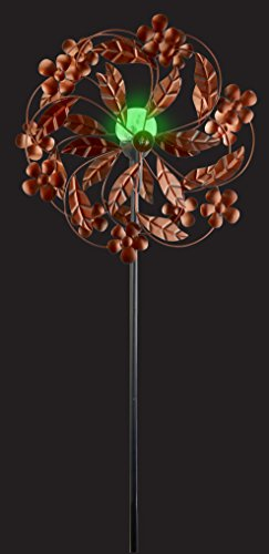 Red-Carpet-Studios-34439-Outdoor-Dcor-Wind-Spinner-Solar-Metal-Garden-Stake-Flowers-and-Leaves-0-0