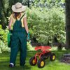 Red-Rolling-Garden-Cart-Work-Seat-W-Heavy-Duty-Tool-Tray-Gardening-Plan-0-1