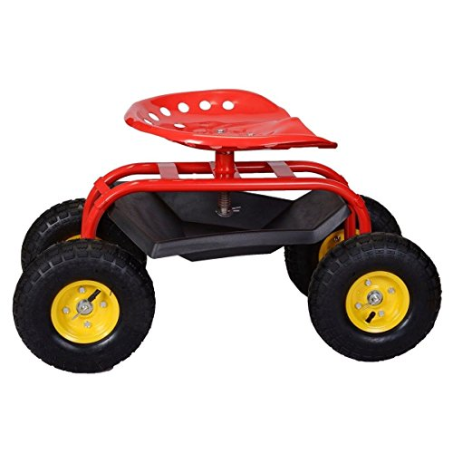 Red-Rolling-Garden-Swivel-Seat-Planting-Adjustable-Height-with-Tool-Tray-0-1