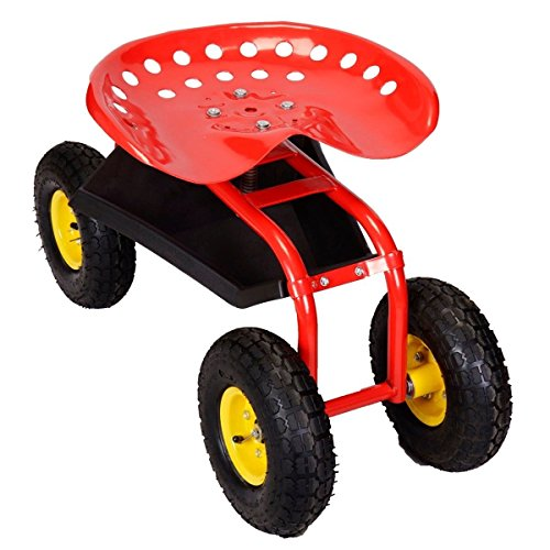 Red-Rolling-Garden-Swivel-Seat-Planting-Adjustable-Height-with-Tool-Tray-0