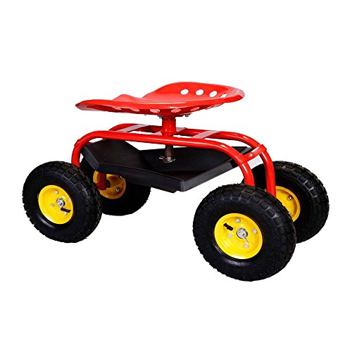 Rolling-Garden-Cart-Work-Seat-With-Heavy-Duty-Tool-Tray-Durable-Planting-Red-0-3