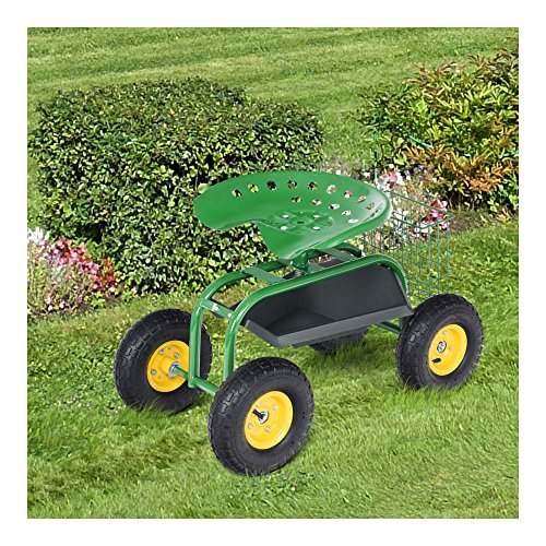 Rolling-Garden-Cart-Work-Seat-with-Heavy-Duty-Tool-Tray-Gardening-Planting-Green-0-12