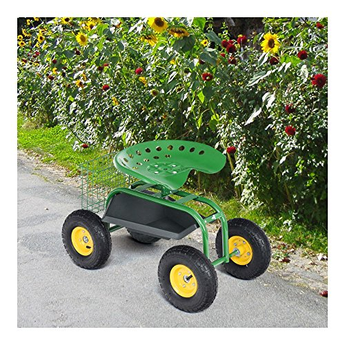Rolling-Garden-Cart-Work-Seat-with-Heavy-Duty-Tool-Tray-Gardening-Planting-Green-0-13