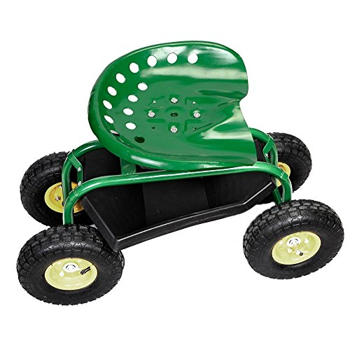 Rolling-Garden-Cart-Work-Seat-with-Heavy-Duty-Tool-Tray-Gardening-Planting-Green-0-15