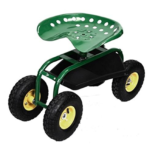 Rolling-Garden-Cart-Work-Seat-with-Heavy-Duty-Tool-Tray-Gardening-Planting-Green-0-3