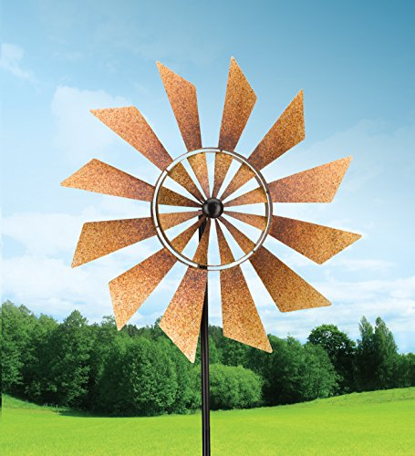 Rustic-Turbines-Double-Rotating-Metal-Kinetic-Garden-Stake-Wind-Spinner-0-1