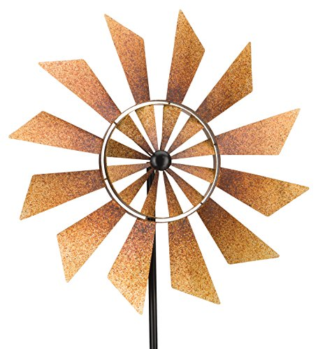 Rustic-Turbines-Double-Rotating-Metal-Kinetic-Garden-Stake-Wind-Spinner-0