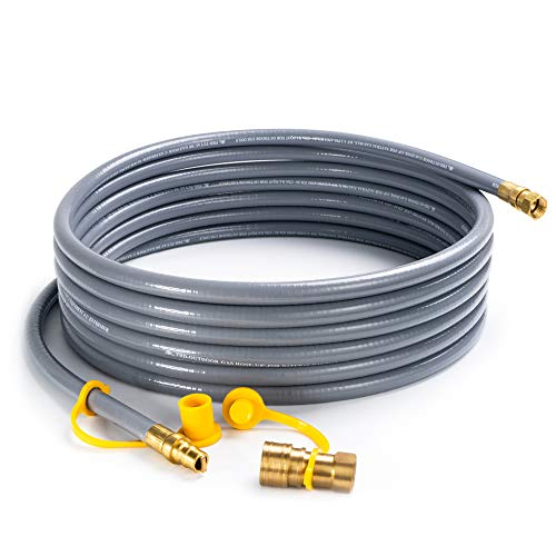 SHINESTAR-24-feet-Natural-Gas-Hose-with-38-Male-Flare-Quick-ConnectDisconnect-for-BBQ-Gas-Grill-50000-BTU-Fits-Low-Pressure-Appliance-with-38-Female-Flare-Fitting-CSA-Certified-0