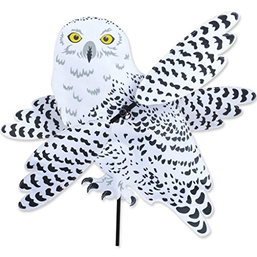 SNOWY-OWL-Whirligig-Garden-Stake-Wind-Spinner-by-Premier-Kites-Designs-0
