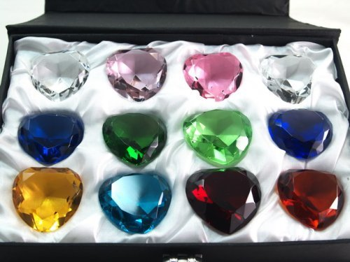 Sapphire-Amber-Emerald-Crystal-Heart-Diamond-Set-of-12-40mm-0-1