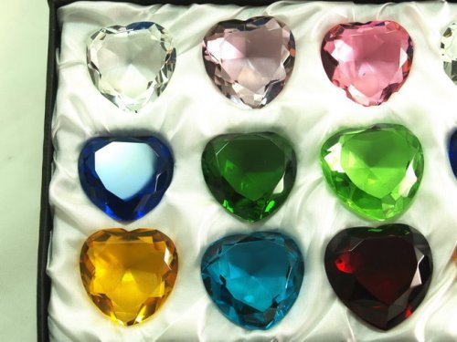 Sapphire-Amber-Emerald-Crystal-Heart-Diamond-Set-of-12-40mm-0