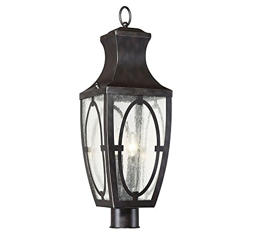 Savoy-House-5-264-213-Shelton-Two-Light-Outdoor-Post-Lantern-English-BronzeGold-Finish-with-Clear-Seeded-Glass-0
