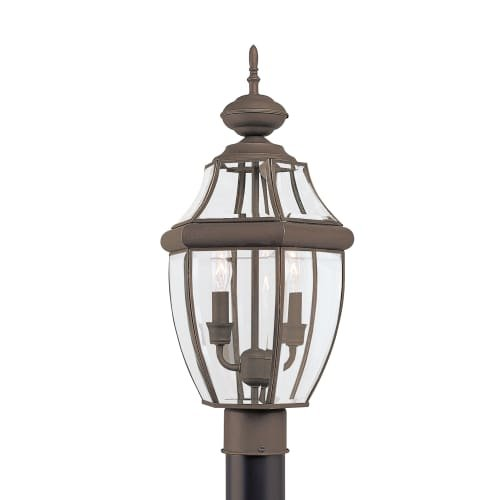 Sea-Gull-8229EN-71-Lancaster-Outdoor-Post-2-Light-7-Total-Watts-Antique-Bronze-0