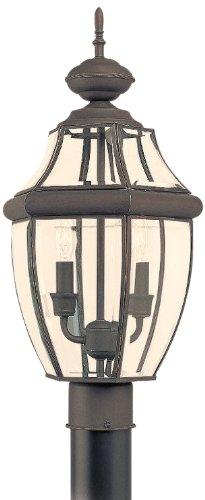 Sea-Gull-Lighting-8239-965-Lancaster-Solid-Brass-Outdoor-Post-Lighting-018W-Nickel-0