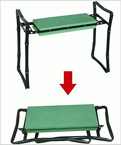 Sokey-Folding-Garden-kneeler-Multifuncational-Garden-Chair-SeatStool-with-Tool-HolderGreen-0-0