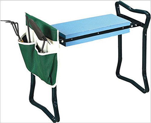 Sokey-Folding-Garden-kneeler-Multifuncational-Garden-Chair-SeatStool-with-Tool-HolderGreen-0
