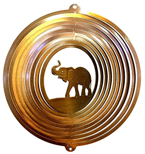 Stainless-Steel-Elephant-12-Inch-Wind-Spinner-Copper-0