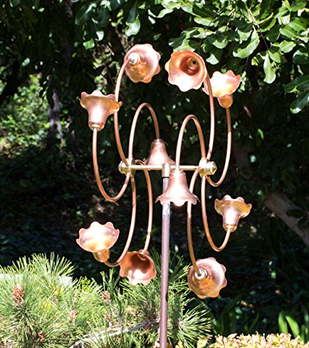 Stanwood-Wind-Sculpture-Kinetic-Copper-Dual-Spinner-Tumbling-Flowers-0-1
