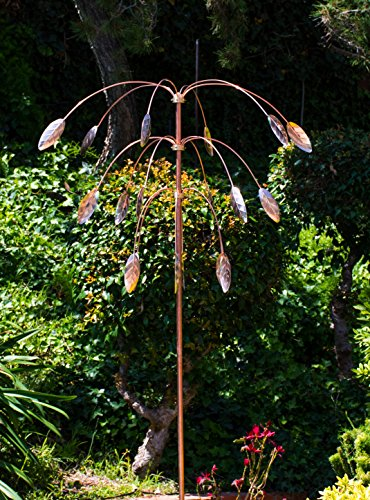 Stanwood-Wind-Sculpture-Kinetic-Copper-Triple-Spinner-Falling-Foliage-0-0