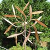 Stanwood-Wind-Sculpture-Large-Kinetic-Copper-Dual-Spinner-Dancing-Willow-Leaves-Jumbo-Version-3-ft-Across-9-ft-Tall-0-0
