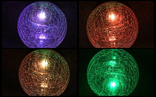 SteadyDoggie-Sports-Outdoors-Solar-Wind-Spinner-New-75in-Jewel-Cup-Multi-Color-LED-Light-Solar-Powered-Glass-Ball-with-Kinetic-Wind-Spinner-Dual-Direction-for-Lawn-Garden-0
