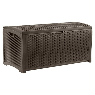 Suncast-Outdoor-Patio-73-gal-Resin-Wicker-Storage-Deck-Box-Espresso-0