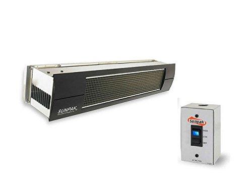 Sunpak-S34S-TSH-Hanging-Patio-Heater-Stainless-Steel-Propane-Gas-LP-Black-Front-Fascia-Kit-Plus-Free-Sunpak-eGuide-0