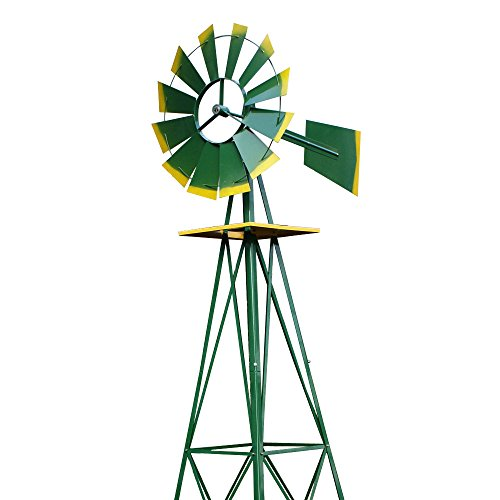 Super-Deal-8-Iron-Windmill-Ornamental-Garden-Weather-Resistant-Weather-Vane-0-1