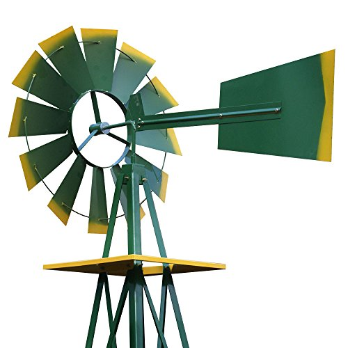 Super-Deal-8-Iron-Windmill-Ornamental-Garden-Weather-Resistant-Weather-Vane-0-2