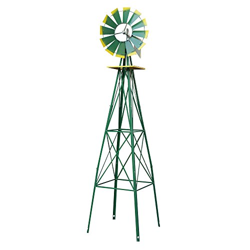 Super-Deal-8-Iron-Windmill-Ornamental-Garden-Weather-Resistant-Weather-Vane-0