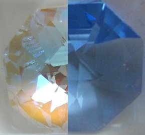 Swarovski-40mm-Sapphire-Aurora-Borealis-Large-Crystal-Faceted-Heart-Prism-0-0