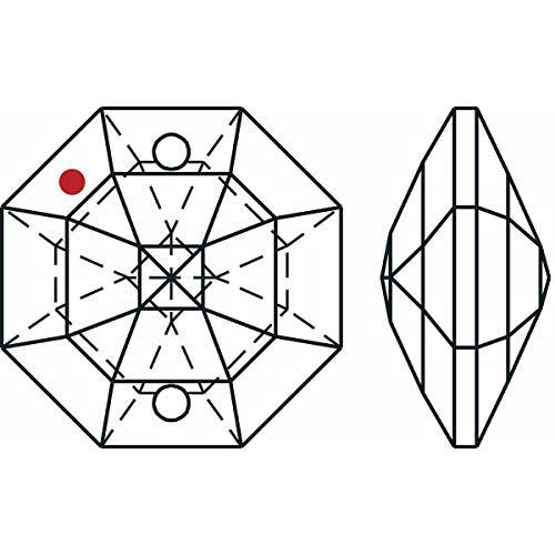 Swarovski-STRASS-Set-of-50-8116-14mm-Clear-Octagon-Lily-2-Holes-Swarovski-Crystal-Chandelier-Parts-0-0
