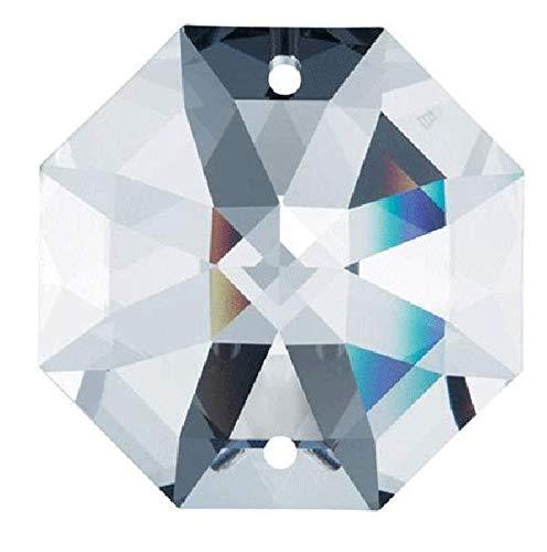 Swarovski-STRASS-Set-of-50-8116-14mm-Clear-Octagon-Lily-2-Holes-Swarovski-Crystal-Chandelier-Parts-0