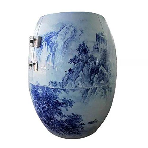 SweatEvaporatingSaunaHealthyUrnNanoAnionNegativeIonFarInfraredRayHyperthermiaFumigatePulseMagneticFieldPorcelainUnderglaze-Blue-And-White-glazed-High-Mountain-And-Running-Water-0