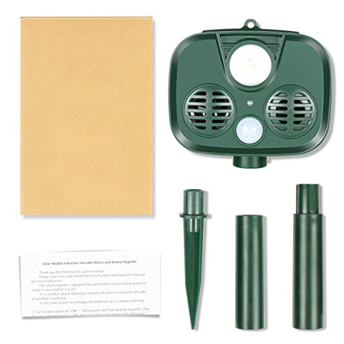 TTMOW-Solar-Ultrasonic-Animal-Repellent-and-Pest-Repeller-with-UltrasonicFlash-Light-and-Alarm-SoundWaterproof-Outdoor-UseBatteries-Included-Repel-Cats-Mice-Snakes-and-Other-Animals-0-1