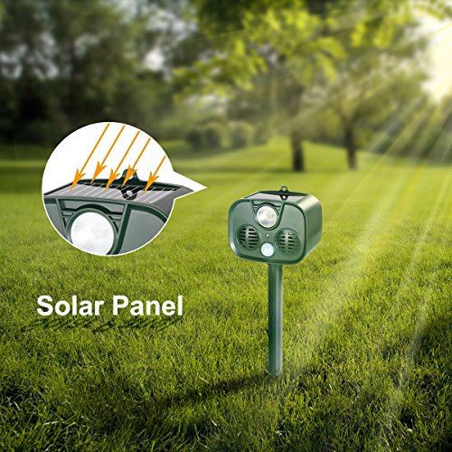 TTMOW-Solar-Ultrasonic-Animal-Repellent-and-Pest-Repeller-with-UltrasonicFlash-Light-and-Alarm-SoundWaterproof-Outdoor-UseBatteries-Included-Repel-Cats-Mice-Snakes-and-Other-Animals-0-2