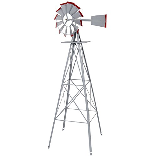 Tangkula-8FT-Windmill-Yard-Garden-Metal-Ornamental-Wind-Mill-Weather-Vane-Weather-Resistant-0
