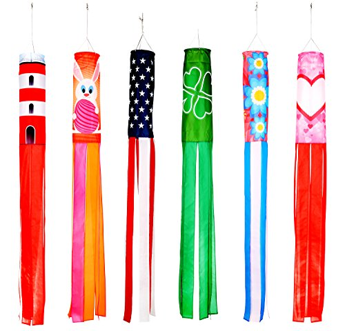 Trademark-Innovations-60-Spring-and-Summer-Theme-Windsocks-Set-of-6-Blows-in-The-Wind-0