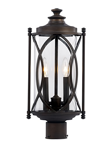 Trans-Globe-Lighting-40415-ROB-Outdoor-Fiesta-24-Postmount-Lantern-Rubbed-Oil-Bronze-0
