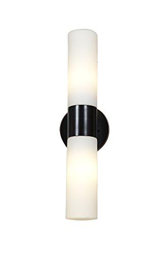 Two-Light-Opal-Glass-Alu-Outdoor-Wall-Light-0