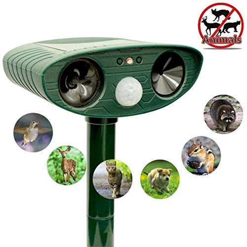 Ultrasonic-Animal-Repeller-Ultrasonic-waterproof-solar-Powered-repellent-with-motion-Sensor-and-Red-flashing-lights-Works-in-Farms-Gardens-Yard-Repels-all-types-of-unwanted-animals-and-birds-0