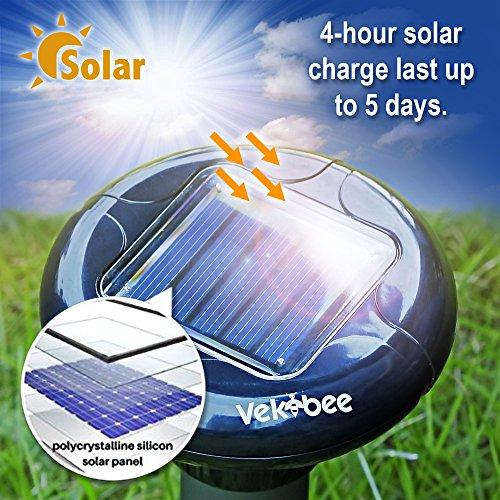 Vekibee-Pack-of-2-Sonic-Mole-Repellent-Solar-Powered-Gopher-Repellent-Ultrasonic-Vole-Repeller-Mole-Chaser-Rodent-Deterrent-Unlike-Mole-Killer-Poison-Mole-Traps-That-Work-Cruel-0-2