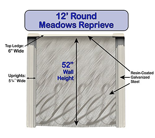 Wilbar-Meadows-Reprieve-12-Foot-Round-Above-Ground-Swimming-Pool-52-Inch-Height-Resin-Protected-Steel-Sided-Walls-Bundle-with-Bedrock-Pattern-25-Gauge-Overlap-Liner-and-Widemouth-Skimmer-0-0