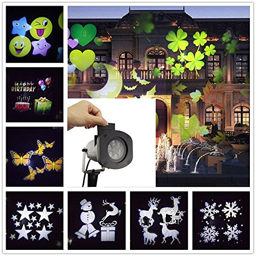 Wilsea-Projector-Lights-12-Pattern-Gobos-Garden-Lamp-Lighting-Waterproof-Sparkling-Landscape-Projection-Light-for-Decoration-Lighting-on-Christmas-Halloween-Holiday-Party-0