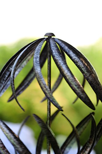 Wind-Weather-Banana-Peel-Metal-Garden-Wind-Spinner-Kinetic-Yard-Sculpture-Dual-Motion-Antiqued-Bronze-Finish-12-W-x-59-H-0-1