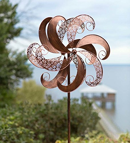 Wind-Weather-KA6880-Garden-Spinner-24-x-1025-x-75-Antique-Copper-Finish-0