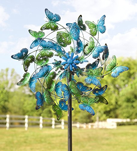 Wind-Weather-KA6925-Metal-Kinetic-Butterfly-Spinner-0