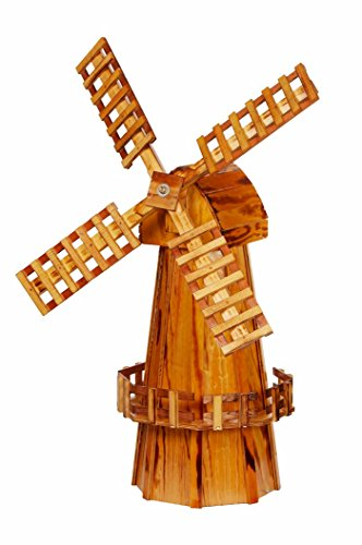 Wooden-Windmill-Medium-Amish-made-with-Varnished-Burnt-Grain-Finish-0