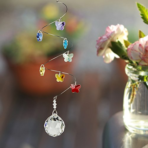 Woodstock-Chimes-CS20-Rainbow-Makers-Suncatchers-Crystal-Spiral-Butterflies-Medium-0-0