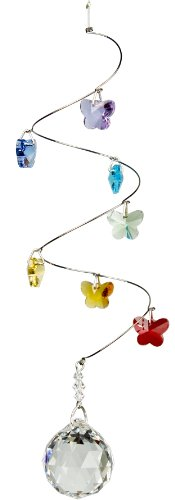 Woodstock-Chimes-CS20-Rainbow-Makers-Suncatchers-Crystal-Spiral-Butterflies-Medium-0